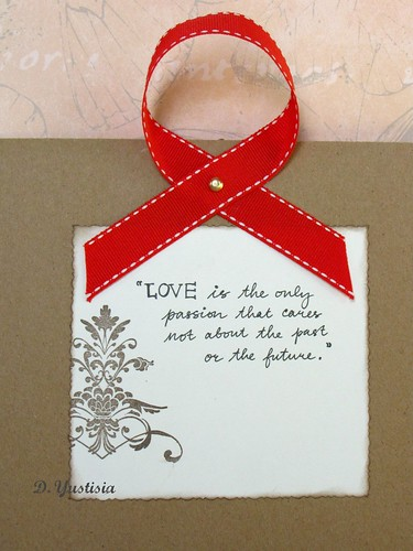 Romantic cardboard greeting