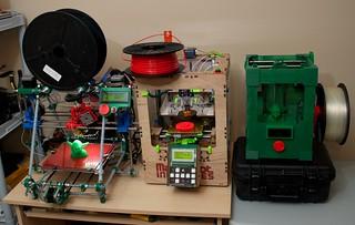 3 Generations of my 3D printers
