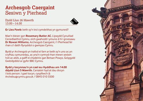 Archesgob Caergaint - Sesiwn y Pierhead