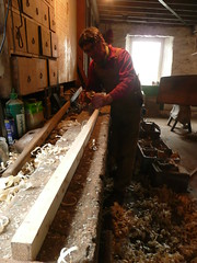 planing the curach oars