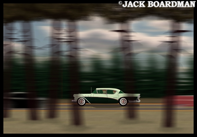 Speeding down Historic US 61 ©2012 Jack Boardman