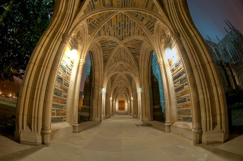 Duke Chapel Arcade (Fisheye HDR)