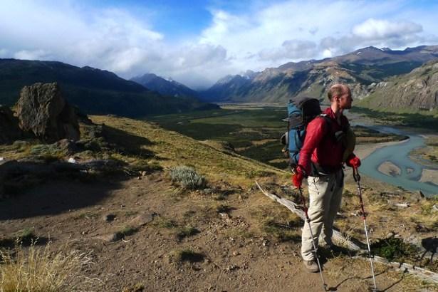 Standing above El Chalten valley