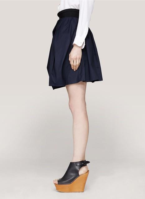 Carven Wrap-around cotton skirt