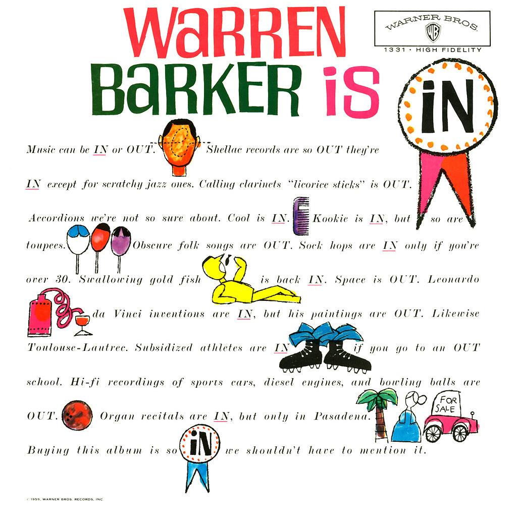 Warren Barker is In