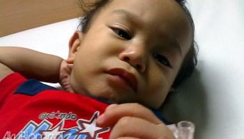 Baby Aslah masuk hospital