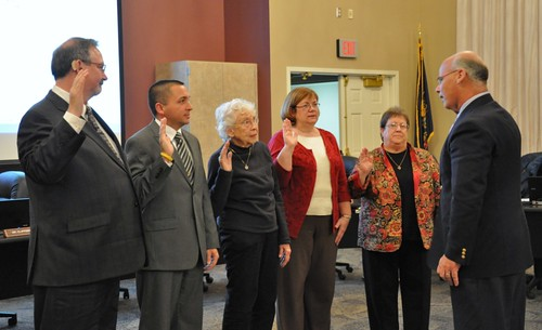 Columbia board swearing in December 2011