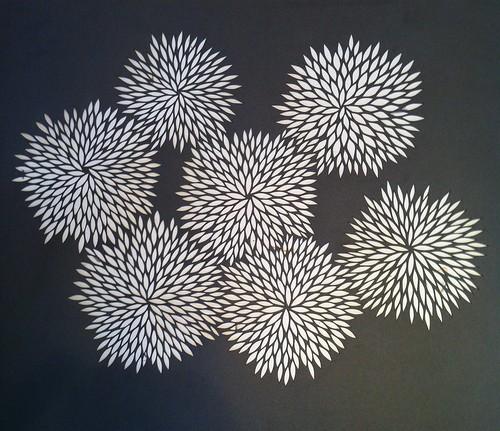 Finished paper cut design