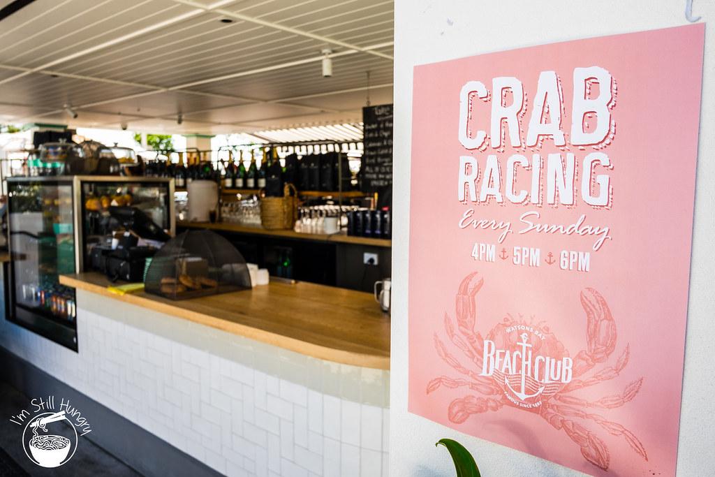 Watson's Bay Beach Club crab racing