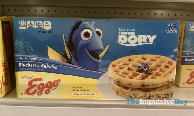Limited Edition Finding Dory Blueberry Bubbles Eggo Waffles