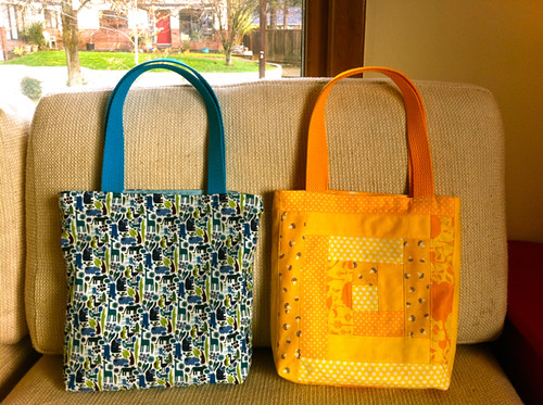 two totes for the littlest warriors