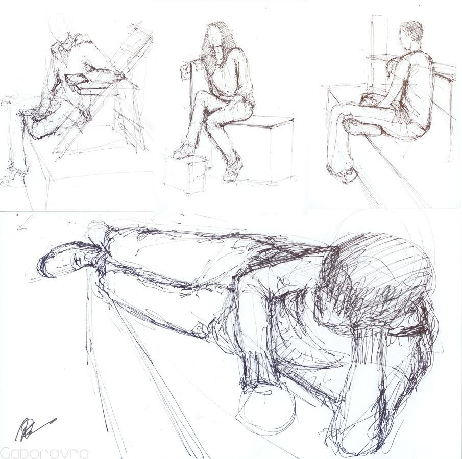 5 mins class sketches