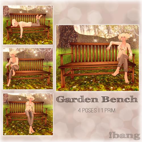 !bang - garden bench