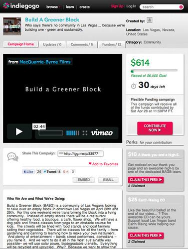 Build a greener block in Las Vegas