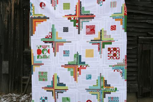 converging corners quilt top