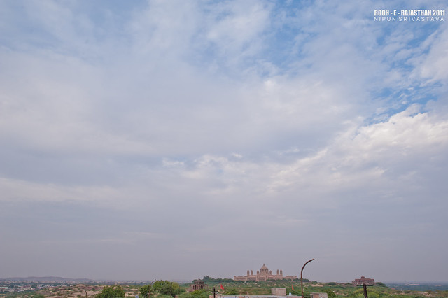 The iffy evening over Jodhpur.
