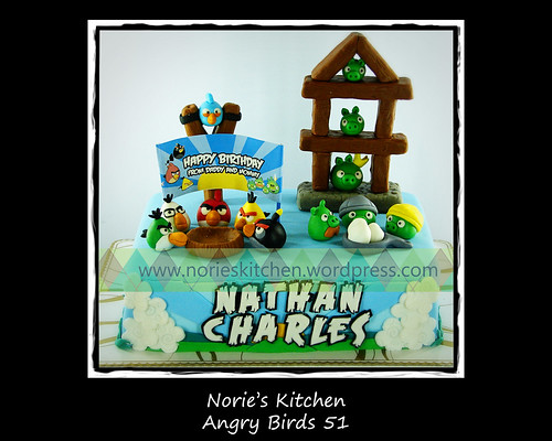 Norie's Kitchen - Angry Birds Cake 51 by Norie's Kitchen