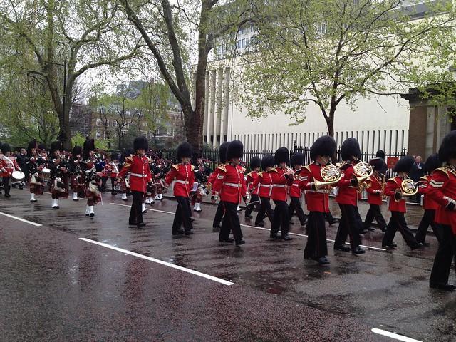 Random parade procession