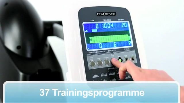 Rudergerät - ProSport XRG 1500 bei FitnessDirect 37 Trainingsprogramme