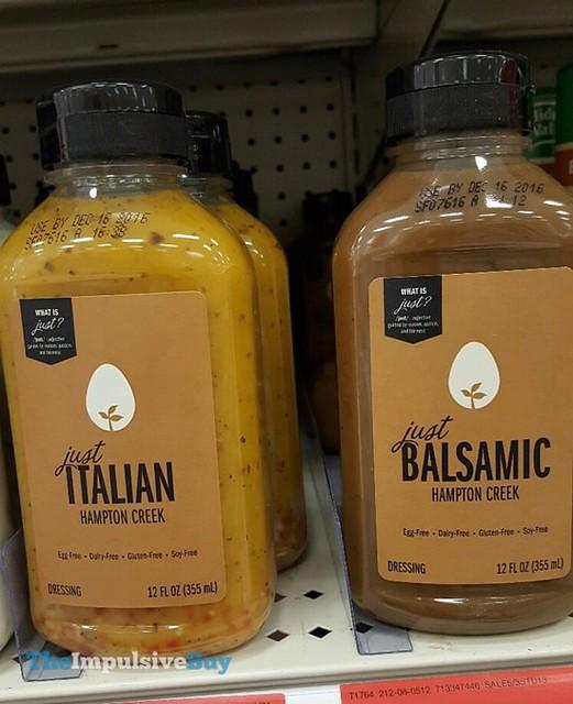 Hampton Creek Just Italian and Just Balsamic