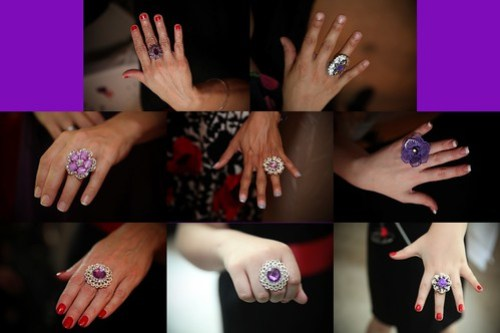 Bridesmaids and special folks rings!