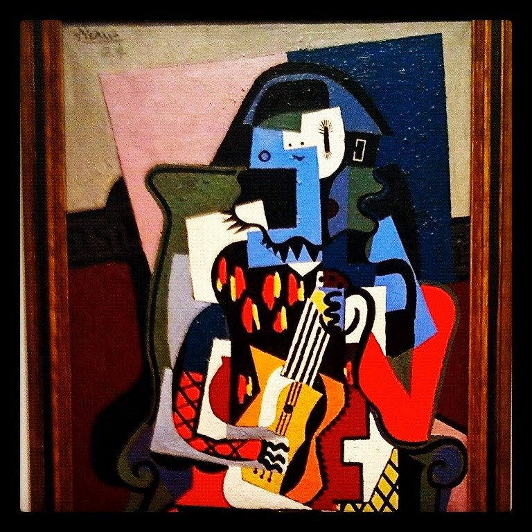 """Pablo Picasso's """"Harlequin Musician"""" at the National Gallery of Art (Instagrammed photo)- February 2012"""