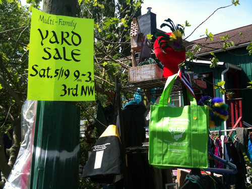 Colorful yard sale