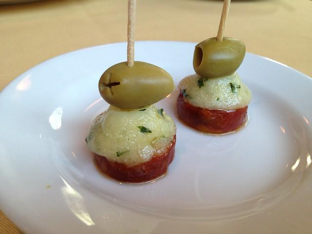 Linguica pork sausage bites - LaSalette Restaurant
