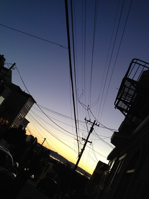 Telephone wires, 17th Street