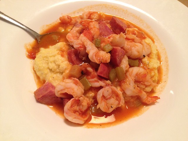 Carolina shrimp and grits - The Glass Onion