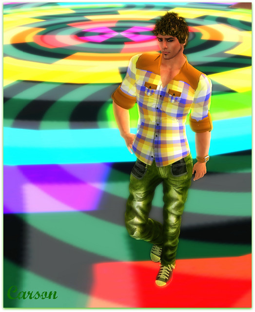 Indigo Eclectic  - Citrus Military Shirt and Wristwatch, n-creation - Lime Corr Jeans, Alli&Ali Designs - Finley Hair Bold
