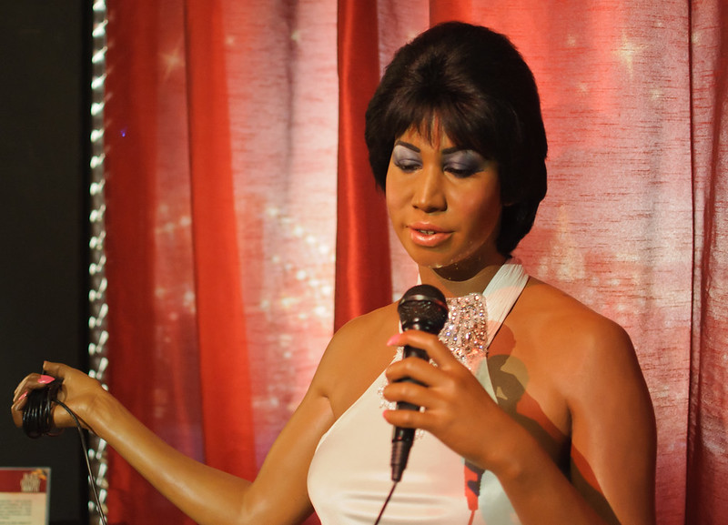 Aretha Franklin at Madame Tussauds New York