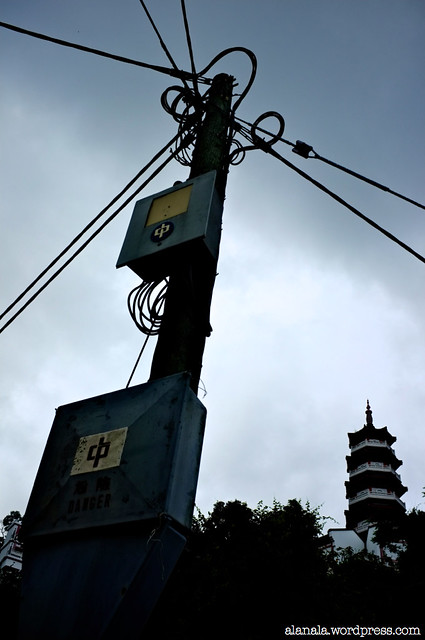 Electric Pole and the Monastery
