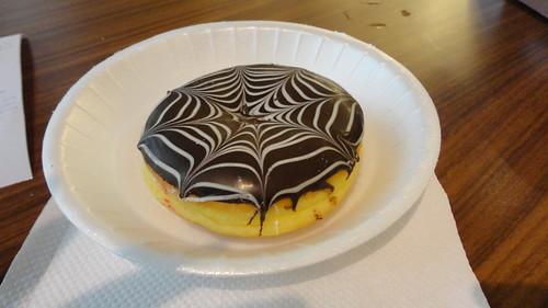 Black and White Bavarian Donut