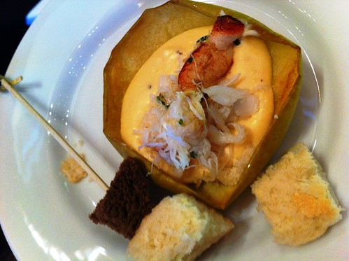 Smoked Gouda Cheese with Crab Meat Fondue