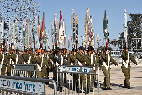 Soldiers Rehearsing for Yom Atzmaut (Independence Day)