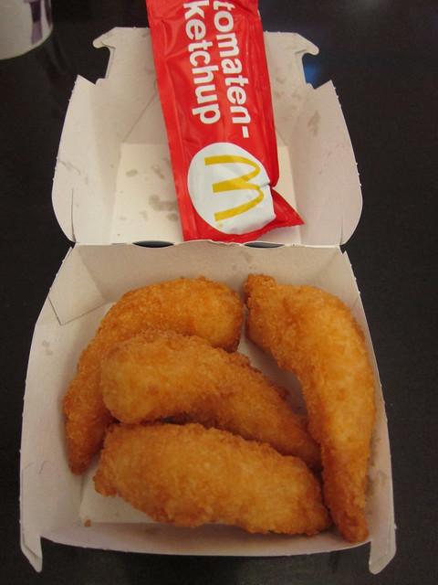 Fried shrimp at McDonald's Schipol