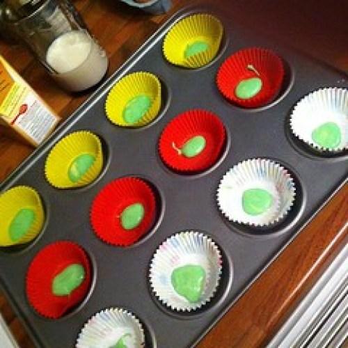 Step1 #rainbowcakes #rainbow #cakes