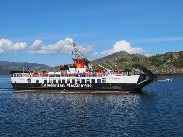 Cal-Mac ferry at Raasay
