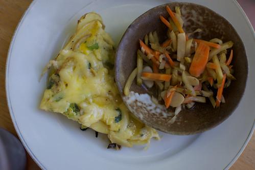 spanish tortilla and fennel slaw