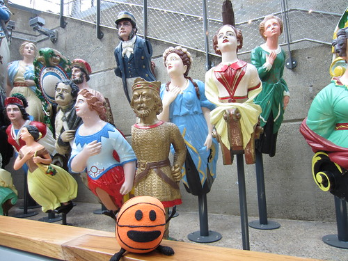bally and a bunch of creepy figureheads