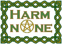 Harm None with Celtic Border