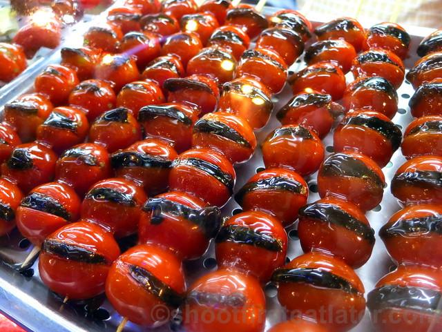 Raohe St. Night Market- candied cherry tomatoes