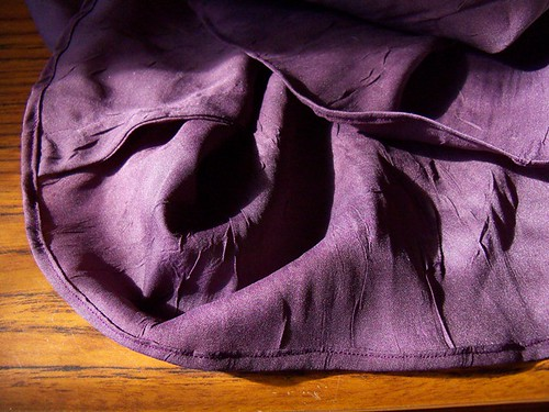 purple dress finishing