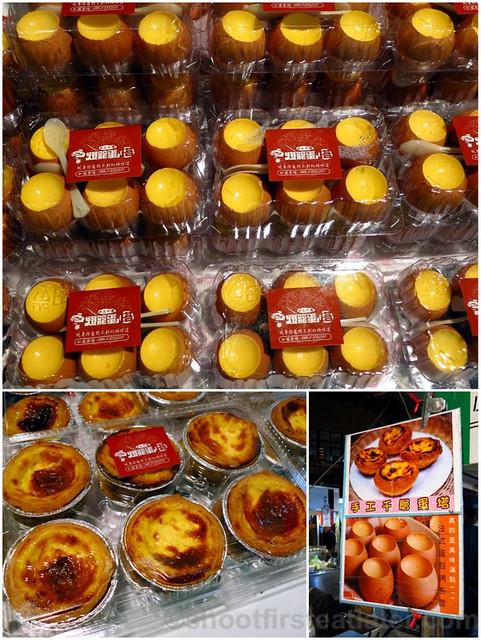 Raohe St. Night Market- egg tarts & french style bake egg shell pudding