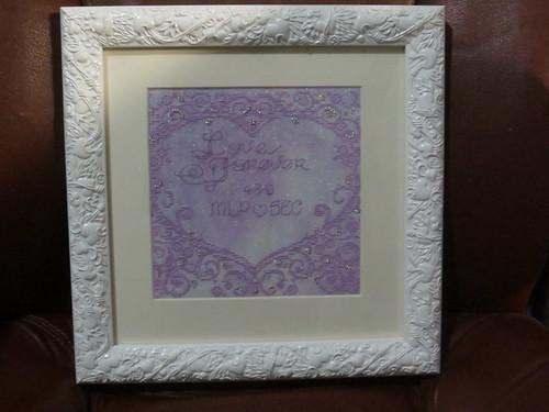 Framed & Gifted: Lace Heart Wedding Sampler