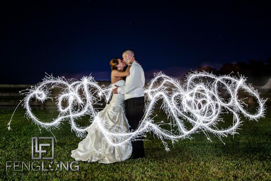 Sparkler Light Painting | Misty & Jonathan's Wedding | Tryphena's Garden | Fort Valley Perry Macon Wedding Photographer