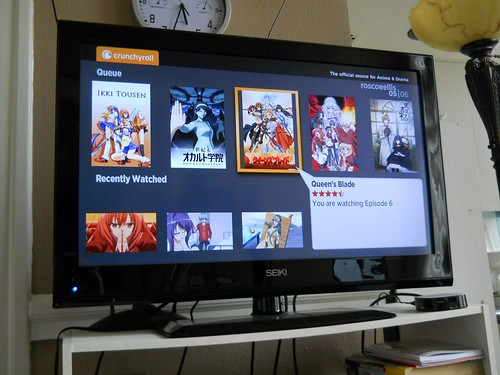 Selecting my anime.