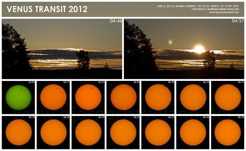 Venus Transit 2012 Montage