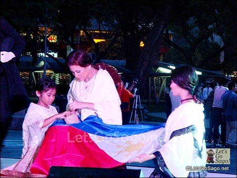 Hand-woven Philippine Flag